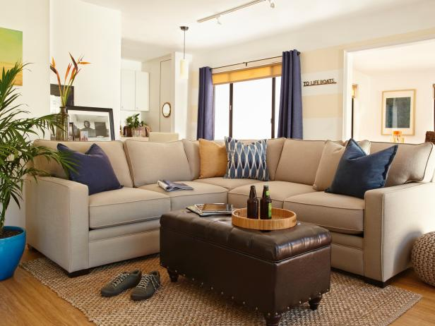 beach bachelor pad living room - Hgtv Design Ideas Living Room