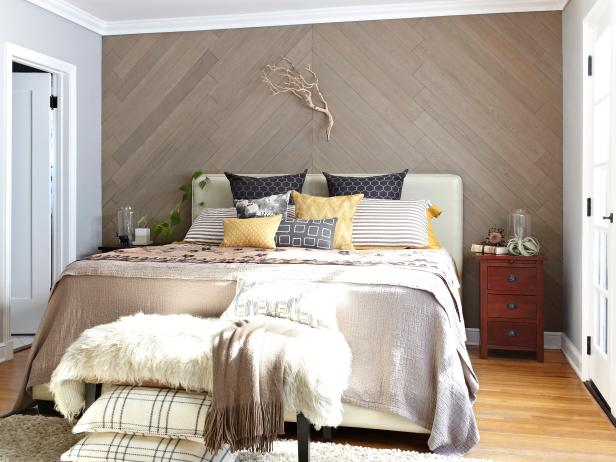 Stikwood Paneled Accent Wall