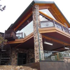 Two-Story Cliff-Side Deck