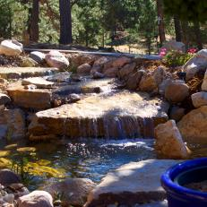 Earthy, Expansive Water Feature