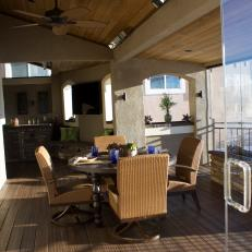 Four-Season Deck with Outdoor Dining Room