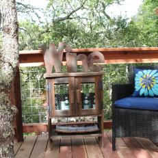 Outdoor Furniture and Wine Rack From The Treehouse Guys