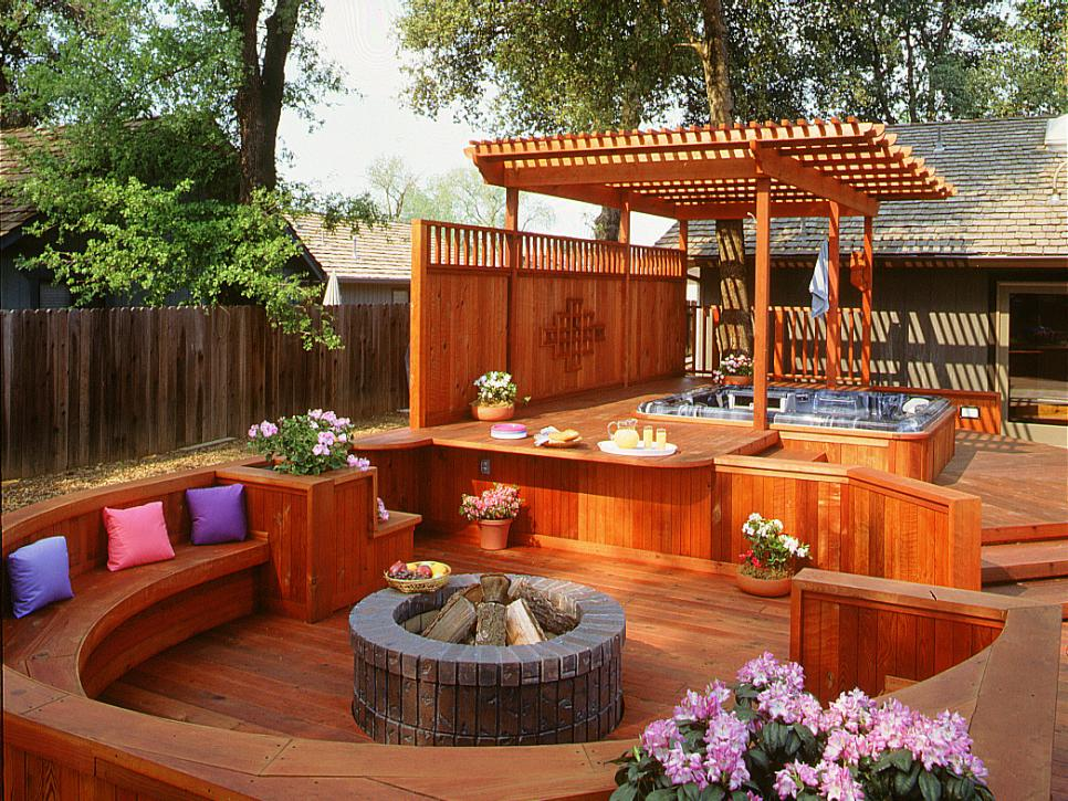 gorgeous decks and patios with hot tubs | diy - Deck Patio Designs