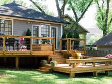 Two-Tier Backyard Deck