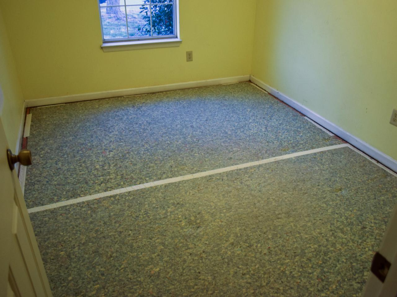 removing carpet and installing laminate flooring