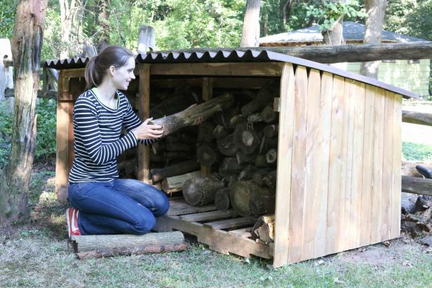 Learn how to make an outdoor firewood storage unit.