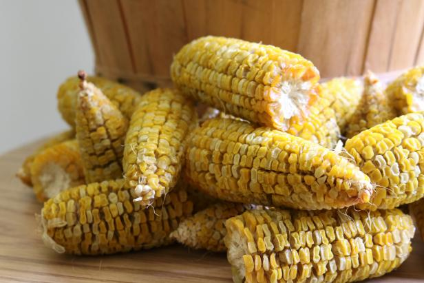 Dry corn as a wintertime treat for wildlife in your backyard.