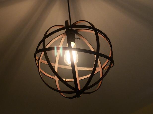 Lit up Embroidery Hoop Sphere