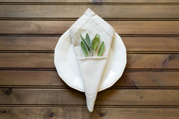 The Cone Fabric Napkin Fold