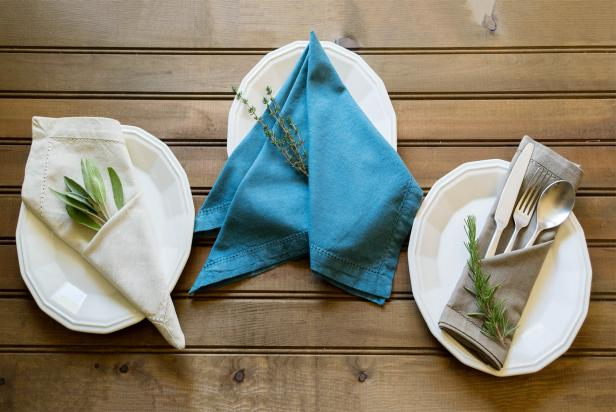 Blue And Silver Napkin Rings