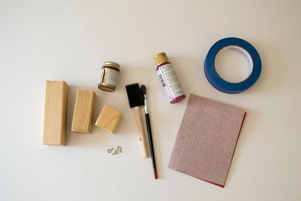 Modern Geometric Wood Ornaments Supplies