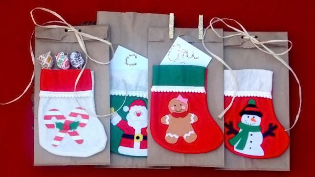 DIY Stocking Christmas Gift Bags