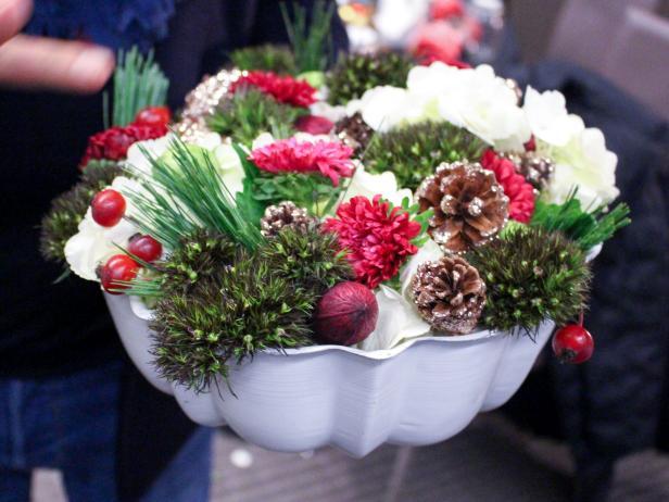 Bundt Pan Flower Arrangement