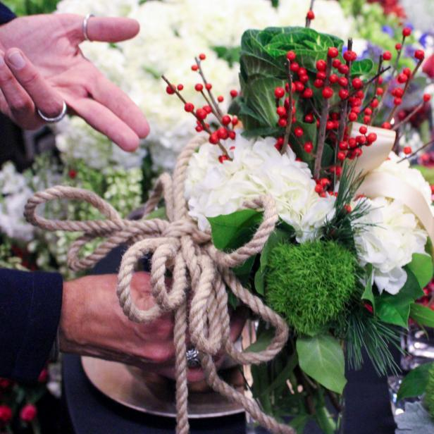 Rope Accent on Flower Arrangement