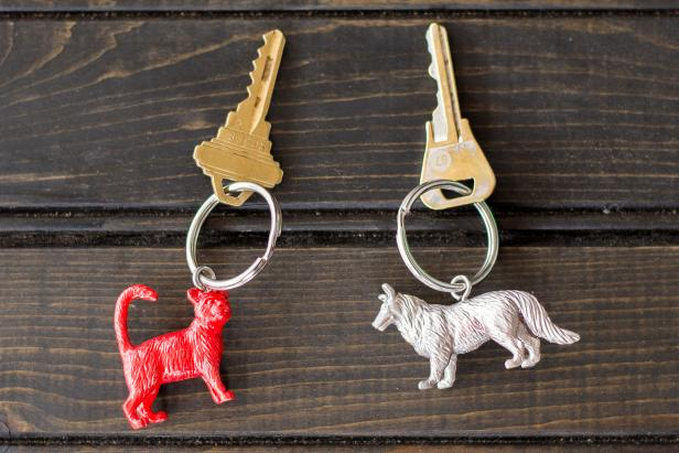 Toy Key Chain and Planter Keychain