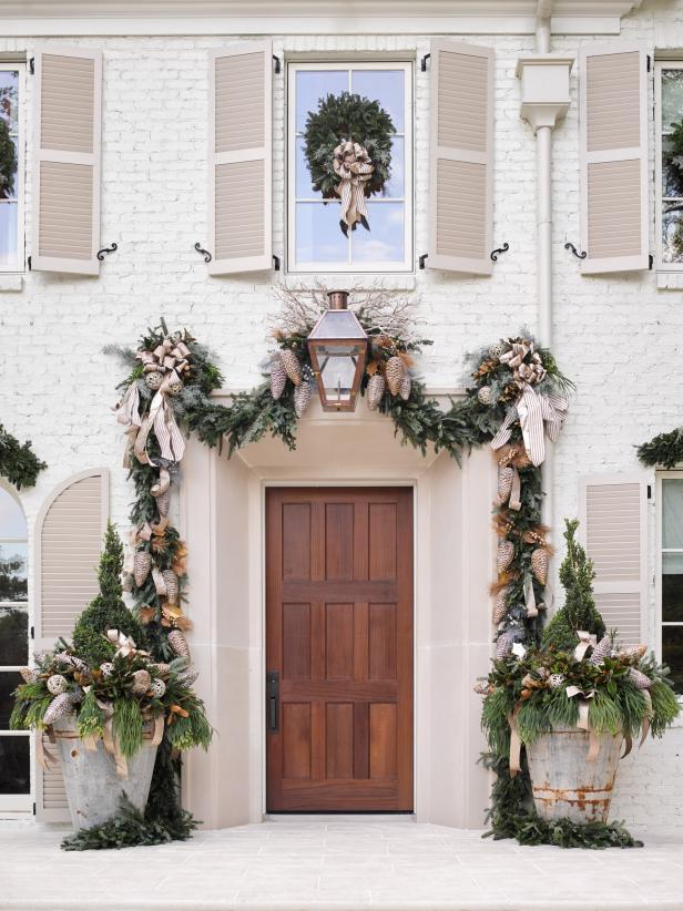 Garland Over Exterior Door