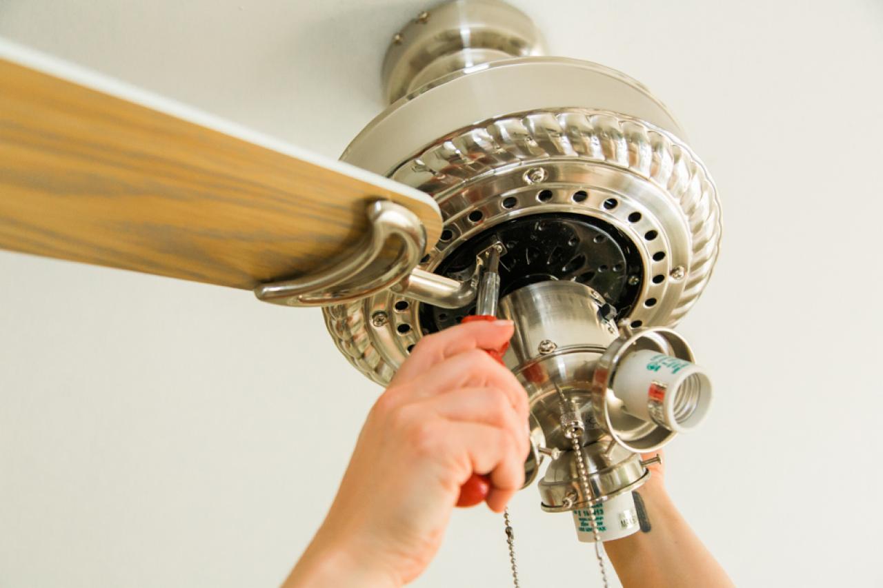 Building Ceiling Fan : How to paint a ceiling fan tos diy