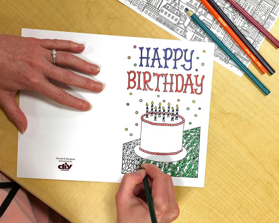 Free Downloadable Adult Coloring Greeting Cards | DIY