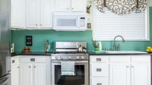 DIY Bead Board Backsplash