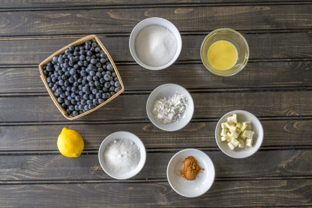 Ingredients for Rustic Blueberry Crostada Filling