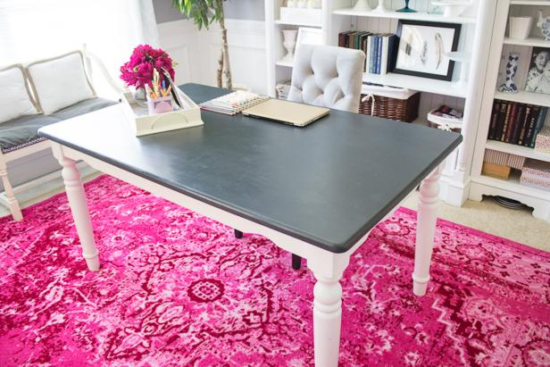 Ways to reuse and redo a dining table diy network blog for Repurposed dining table