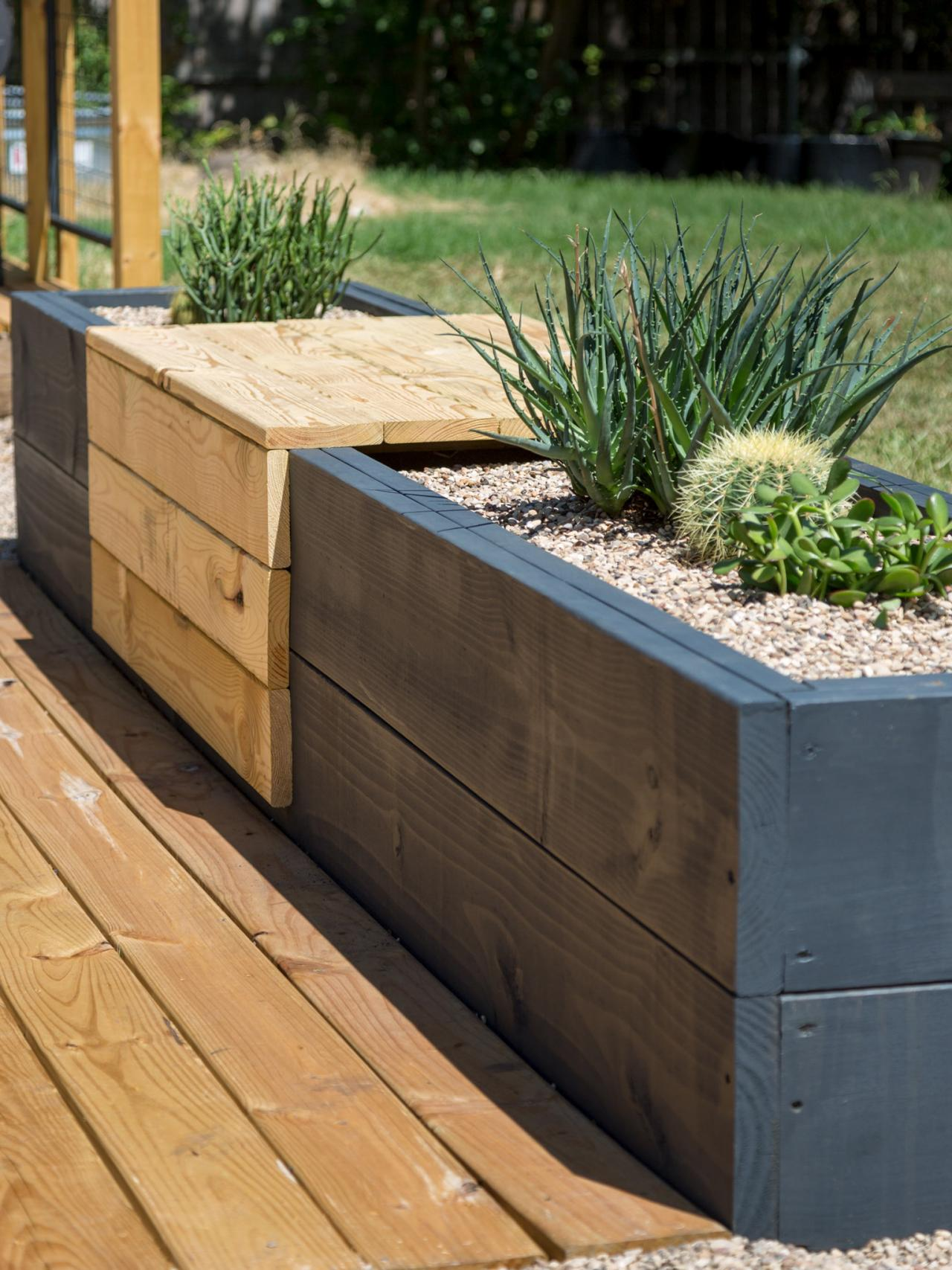 Make A Modern Planter And Bench Combo Hgtv