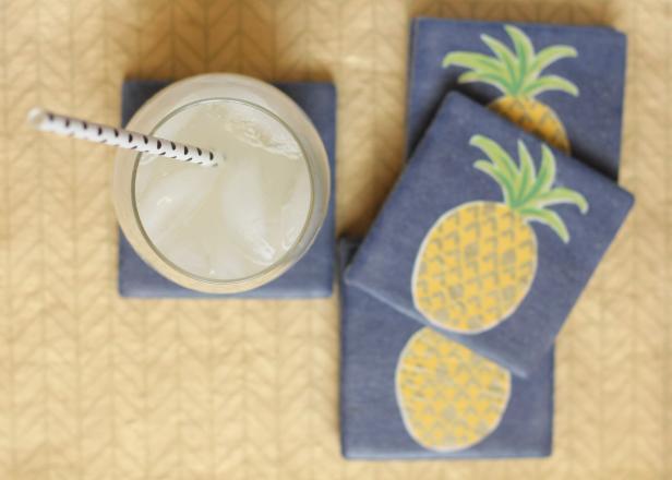 Pineapple Coasters