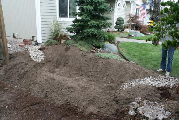 Hole Dug for Rain Garden
