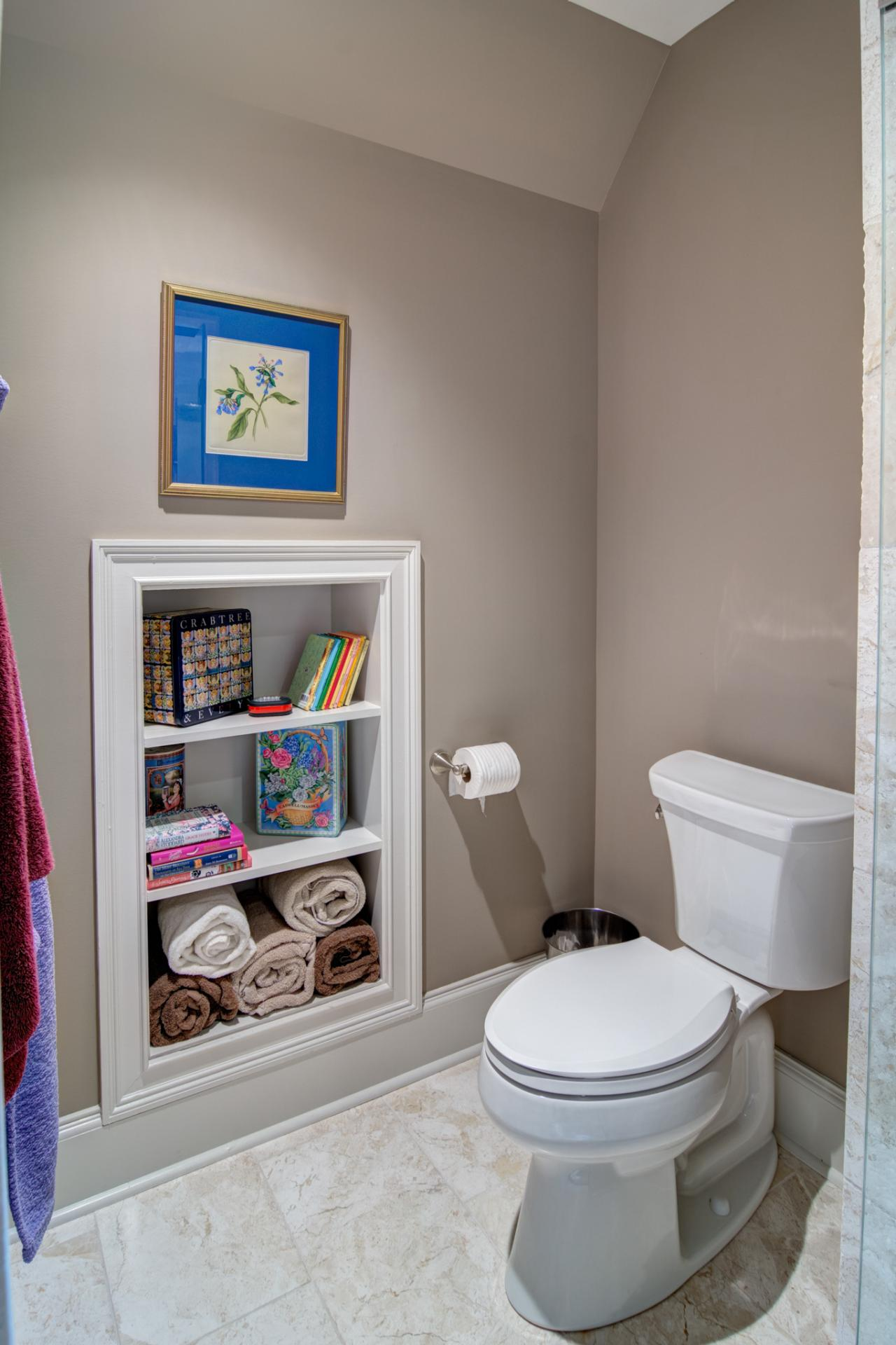 Small space bathroom storage ideas diy network blog for Small bathroom wall ideas