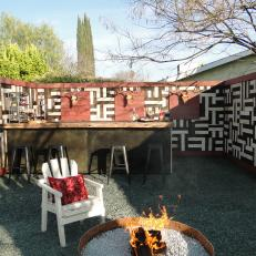 Rustic Wood Outdoor Bar
