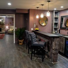 Black Rustic Den with Bar