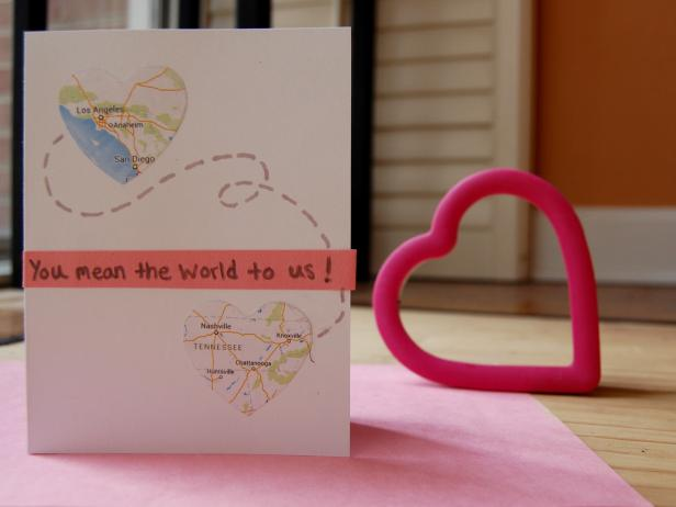 Homemade long distance Valentine's Day card