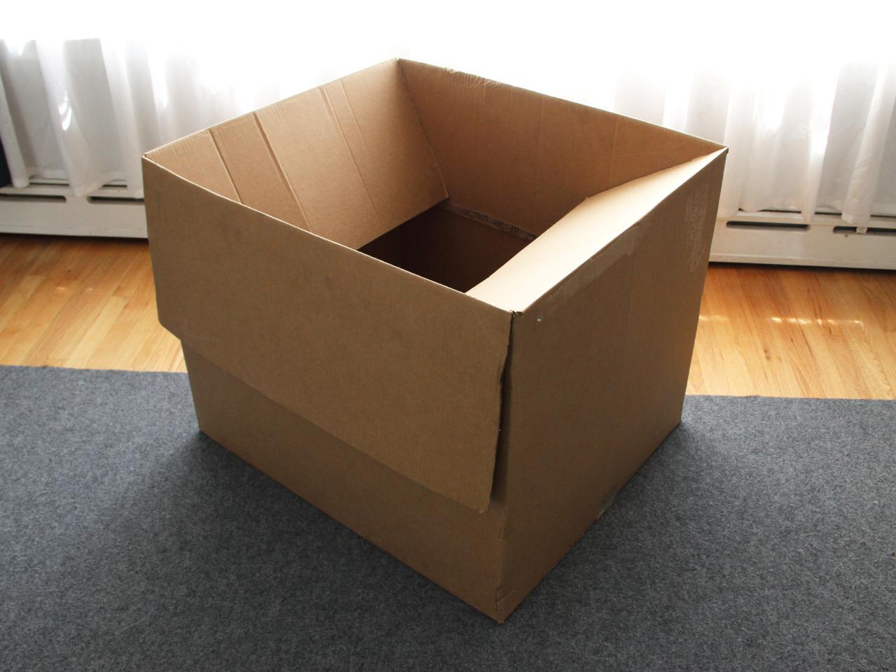 How to make a weatherproof cardboard box fort diy for Box blueprint maker