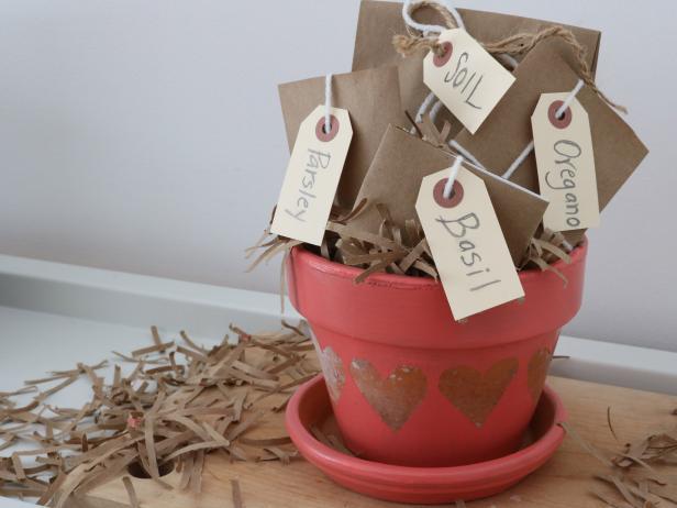 DIY Valentine's Day Herb Garden