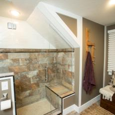 Neutral Bathroom with Cork Tiles