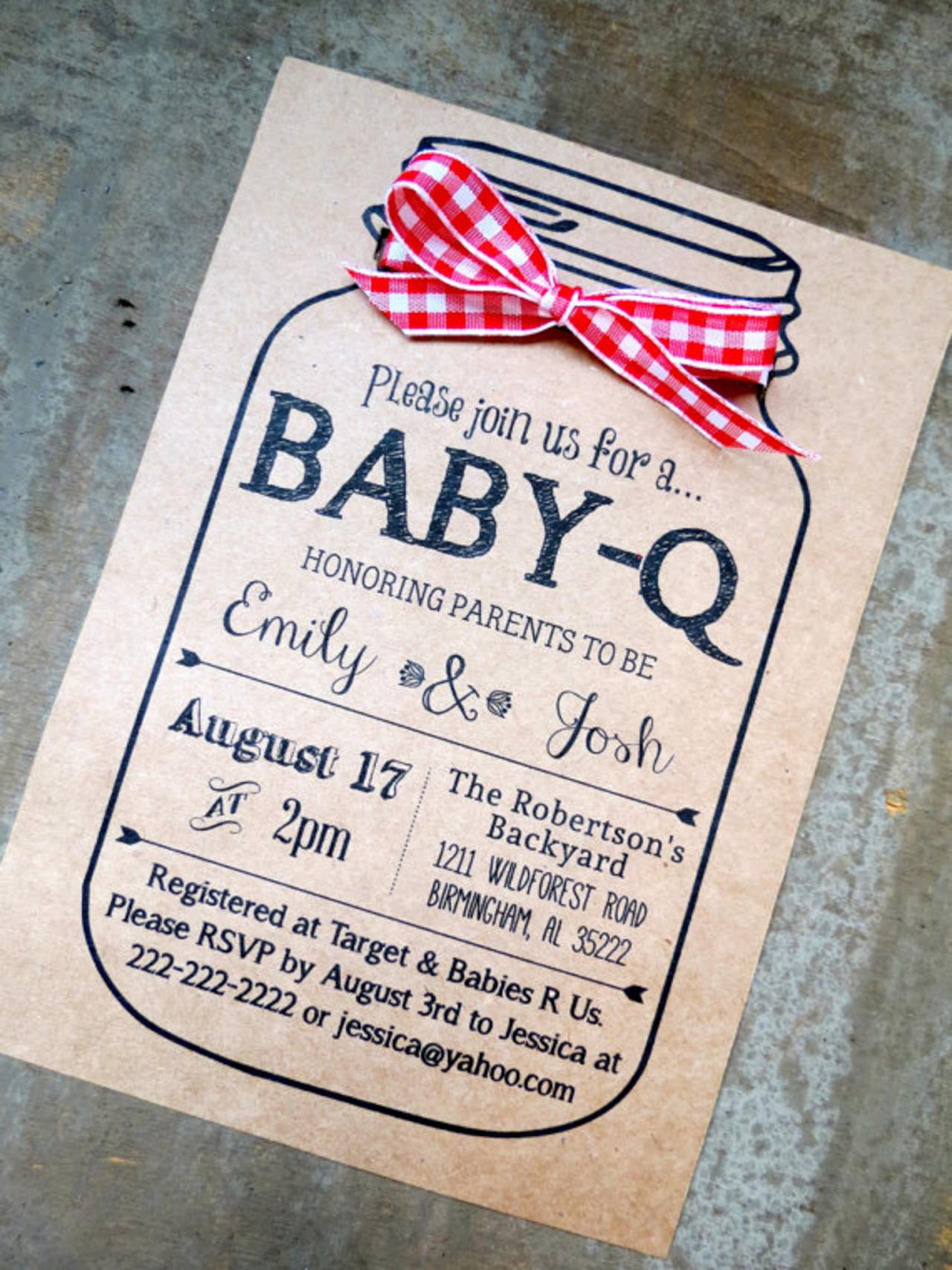 Baby q planning a baby shower on a budget diy network for Baby shower bbq decoration ideas