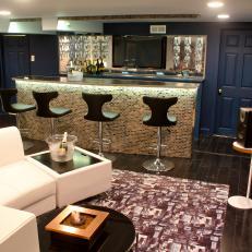 Modern Bar with a White Sofa