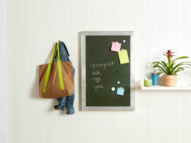 Chalk Message Board In Minimalist Room