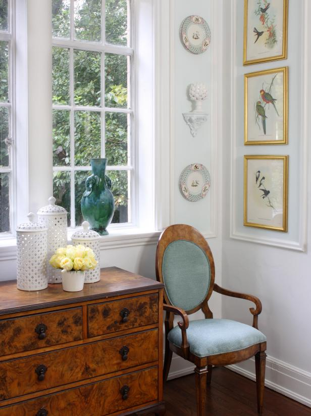 Formal Dining Room with Audubon Prints