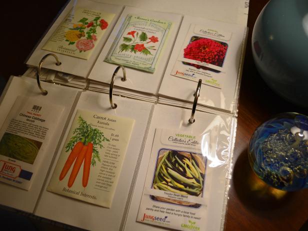 Photo Album Seed Organizer