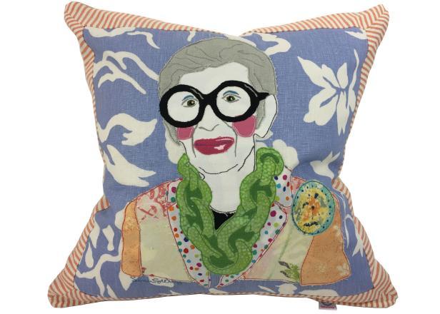 Iris Apfel Pillow