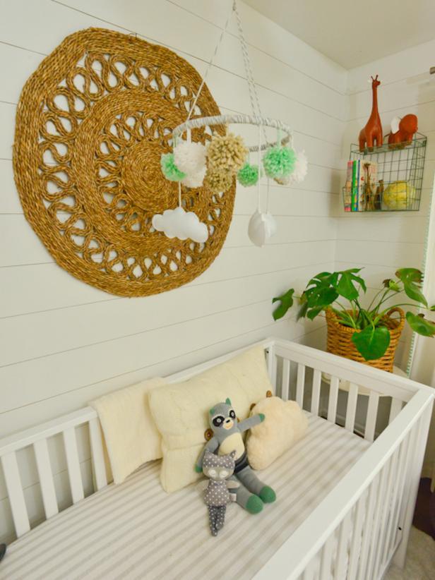 Woven Mat In Whimsical Nursery