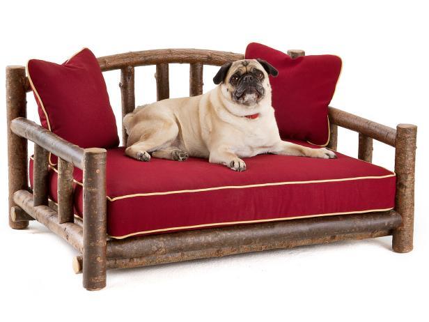 Rustic Wood Pet Bed