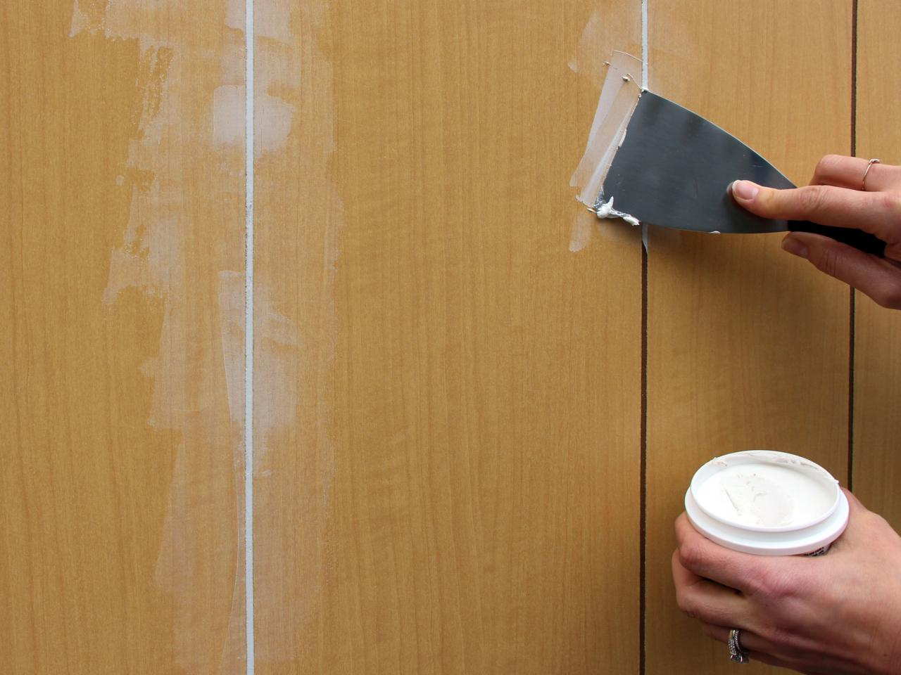 How to paint over wood panel walls how tos diy Can you paint wood paneling