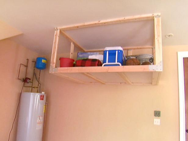 Overhead Garage Storage Shelf Video DIY