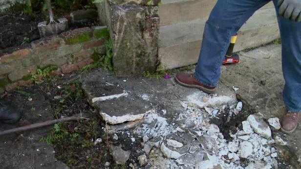 removing old concrete walkway video diy