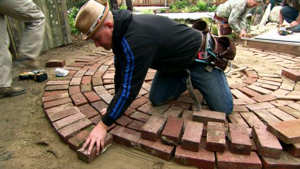 Circular Reused Brick Patio Video Diy