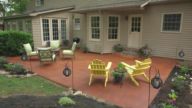 Transform A Concrete Patio Video Diy