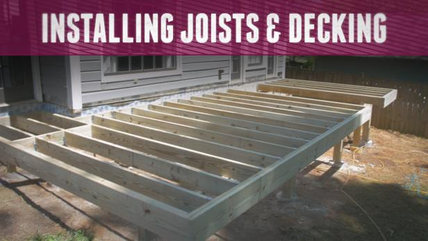 Installing joists and decking video diy for 12x10 deck plans