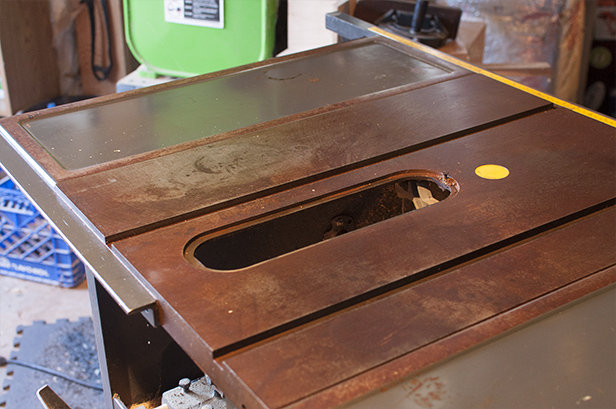 How to rehab an old table saw diy network blog made remade diy rust removal greentooth Gallery